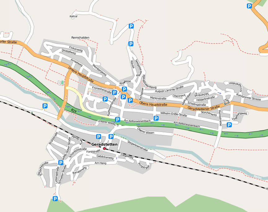 OSM Karte von Geradstetten